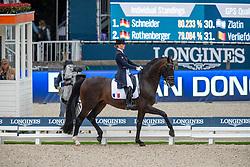 BARBANCON Morgan (FRA), SIR DONNERHALL II OLD<br /> Rotterdam - Europameisterschaft Dressur, Springen und Para-Dressur 2019<br /> Longines FEI European Championships Dressage Grand Prix - Teams (2nd group)<br /> Teamwertung 2. Gruppe<br /> 20. August 2019<br /> © www.sportfotos-lafrentz.de/Stefan Lafrentz