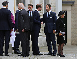 File photo dated 11/09/13 of the Duke of Cambridge with the Duchess of Cornwall, Hugh van Cutsem (right) and his brother William (middle). The Duchess of Sussex looks set to have turned to her inner circle of faithful friends for son Archie's godparents.