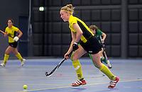 ROTTERDAM - Om de 5e plaats tussen de vrouwen van Push en Terriers. Landskampioenschap zaalhockey voor reserveteams. FOTO KOEN SUYK