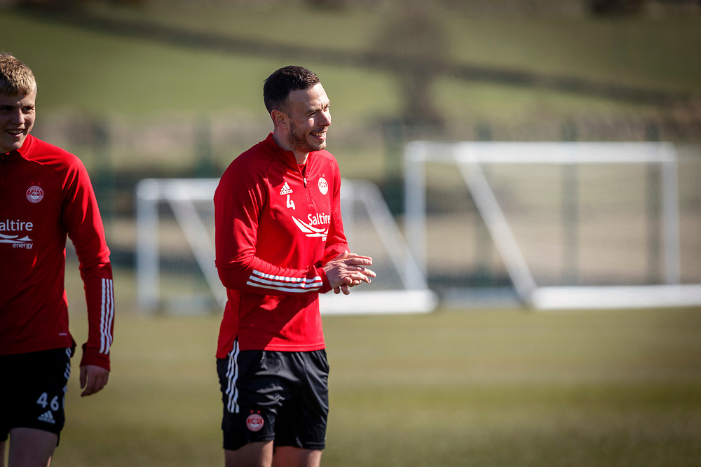 ABERDEEN FC TRAINING WITH NEW MANAGER STEPHEN GLASS AT CORMACK PARK<br /> <br /> PICTURE OF  ANDY CONSIDINE <br /> <br /> PIC DEREK IRONSIDE / NEWSLINE MEDIA