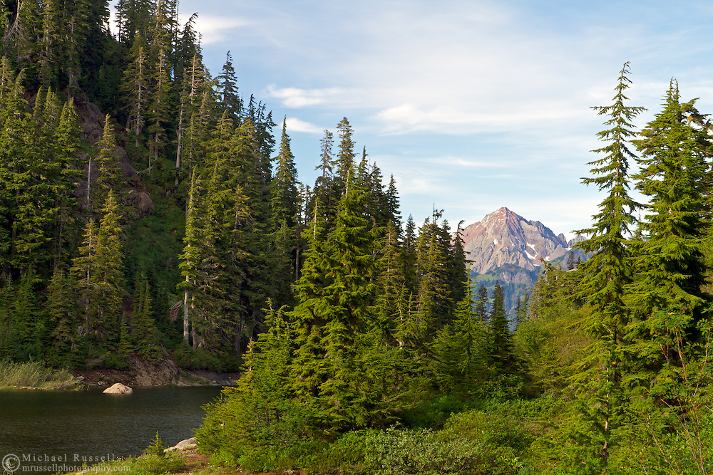 Mount Larrabee from the Bagley Lakes Trail in the Mount Baker Wilderness, Washington State, USA