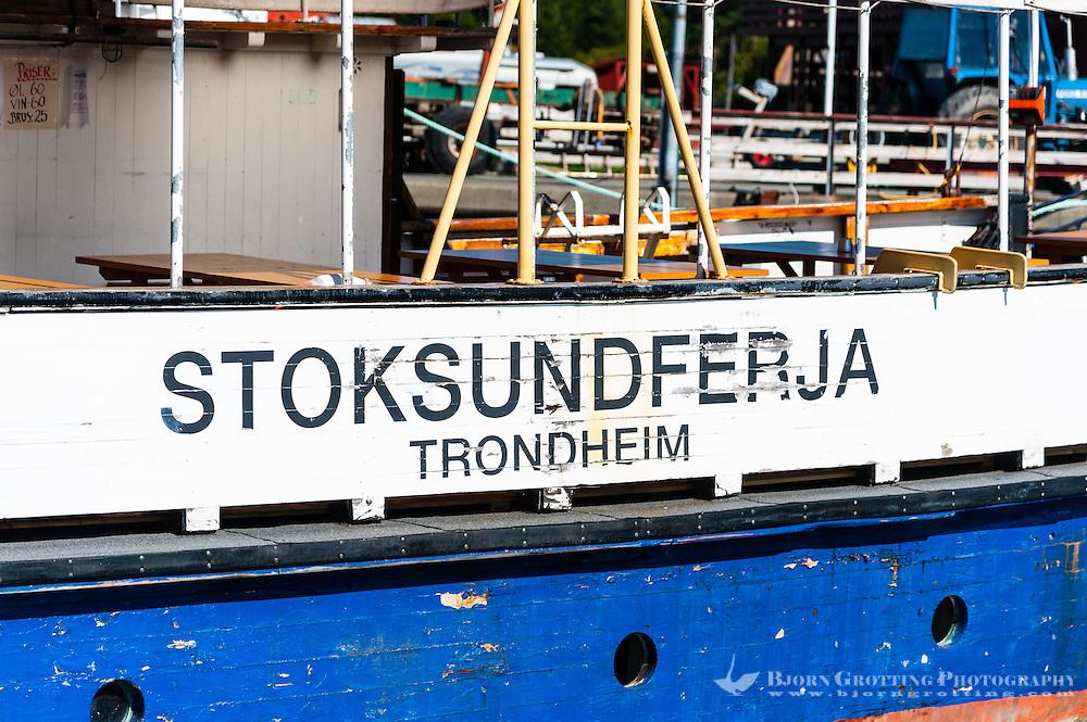 Norway, Inderøy. Kjerknesvågen harbour. The old Stoksund ferry.