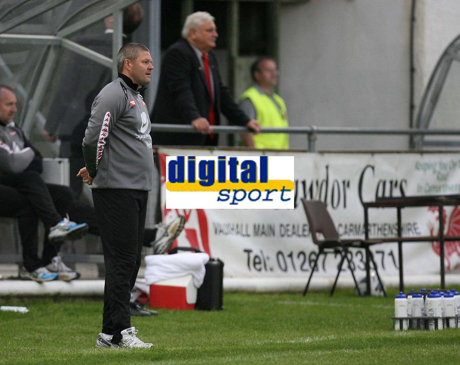Photo: Rich Eaton.<br /> <br /> Carmarthen Town v SK Brann. UEFA Cup Qualifying. 19/07/2007. SK Brann's Head coach Mons Ivar Mjelde