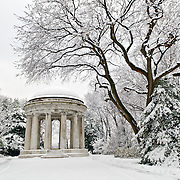 The World War I Memorial on Washington DC's National Mall after a big snow storm. The World War I Memorial is the only city-centric monument on the National Mall. It's dedicated to the 26,000 or so Washingtonians who served in World War I and is sometimes referred to as the DC War Memorial.