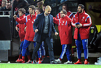 Fotball<br /> Tyskland<br /> 04.04.2015<br /> Foto: Witters/Digitalsport<br /> NORWAY ONLY<br /> <br /> Schlussjubel v.l. Gianluca Gaudino, Thomas Mueller, Trainer Josep ''Pep'' Guardiola, Philipp Lahm, Claudio Pizarro (Bayern)<br /> <br /> Fussball Bundesliga, Borussia Dortmund - FC Bayern München