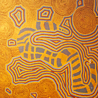Aboriginal Art at Musee de Quai Branly in Paris.