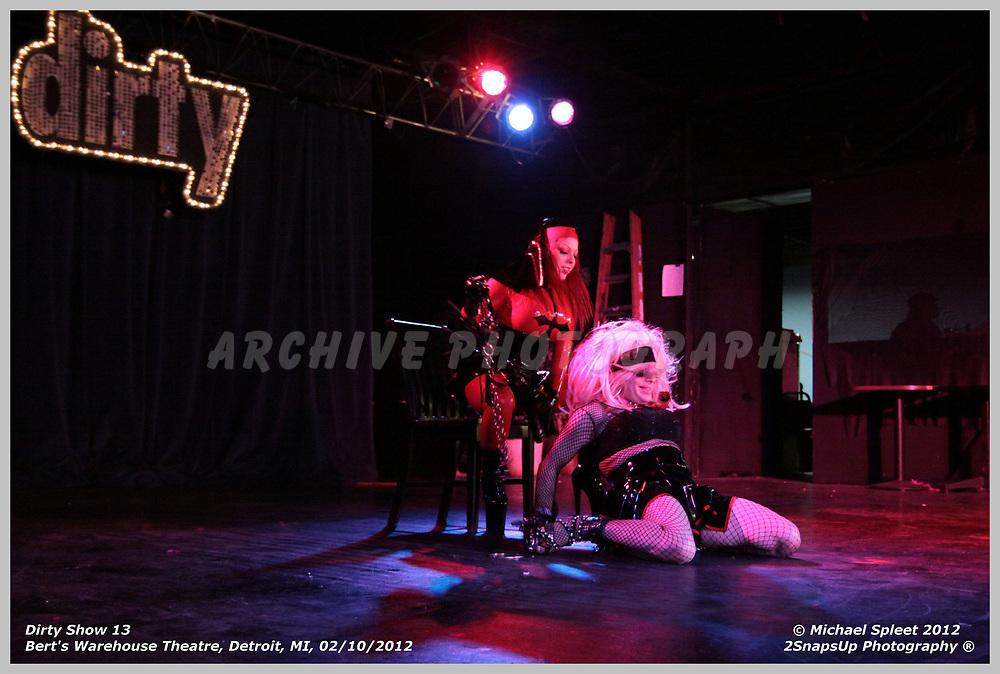 DETROIT, MI, FRIDAY, FEB. 10, 2012: Dirty Show 13, Nemy Laytex at Bert's Warehouse Theatre, Detroit, MI, 02/10/2012.  (Image Credit: Michael Spleet / 2SnapsUp Photography)