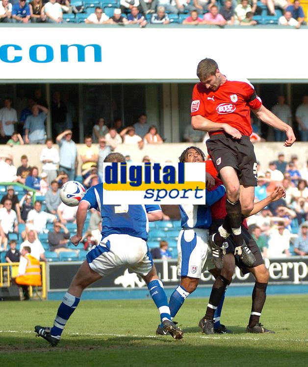 Photo: Tony Oudot.<br /> Millwall v Bristol City. Coca Cola League 1. 28/04/2007.<br /> Jamie McCombe of Bristol City comes close with a header