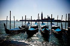 Gondola's in Venice February 2012