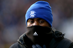Birmingham City's Beryly Lubala during the pre-match warm up before the match at St Andrew's Trillion Trophy Stadium