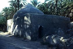 Exterio view of historic water well near Safwa, Saudi Arabia.