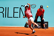 Yoshihito Nishioka of Japan in action during his Men's Singles match, round of 64, against Filip Krajinovic of Serbia on the Mutua Madrid Open 2021, Masters 1000 tennis tournament on May 4, 2021 at La Caja Magica in Madrid, Spain - Photo Oscar J Barroso / Spain ProSportsImages / DPPI / ProSportsImages / DPPI