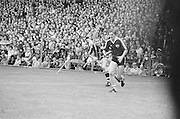 Player runs with ball during the All Ireland Senior Hurling Final - Kilkenny v Galway, Kilkenny 2-12, Galway 1-8, 2nd September 1979.