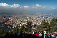Bogota's  landscape from the hill of Monserrate