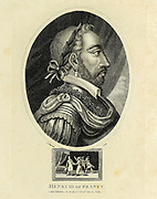 Henry III (French: Henri III, né Alexandre Édouard; Polish: Henryk Walezy; Lithuanian: Henrikas Valua; 19 September 1551 – 2 August 1589) was King of France from 1574 until his death as well as King of Poland and Grand Duke of Lithuania from 1573 to 1575.  Copperplate engraving From the Encyclopaedia Londinensis or, Universal dictionary of arts, sciences, and literature; Volume VII;  Edited by Wilkes, John. Published in London in 1810