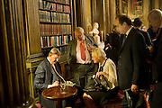 BILL CASH; KEN MOORE; SARA MOORE, Celebration of the  200TH Anniversary of the  Birth of Rt.Hon. John Bright MP  and the publication of <br /> ÔJohn Bright: Statesman, Orator, AgitatorÕ by Bill Cash MP. Reform Club. London. 14 November 2011. <br /> <br />  , -DO NOT ARCHIVE-© Copyright Photograph by Dafydd Jones. 248 Clapham Rd. London SW9 0PZ. Tel 0207 820 0771. www.dafjones.com.<br /> BILL CASH; KEN MOORE; SARA MOORE, Celebration of the  200TH Anniversary of the  Birth of Rt.Hon. John Bright MP  and the publication of <br /> 'John Bright: Statesman, Orator, Agitator' by Bill Cash MP. Reform Club. London. 14 November 2011. <br /> <br />  , -DO NOT ARCHIVE-© Copyright Photograph by Dafydd Jones. 248 Clapham Rd. London SW9 0PZ. Tel 0207 820 0771. www.dafjones.com.