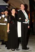 Gala dinner on the occasion of the civil wedding of Grand Duke Guillaume and Princess Stephanie at the Grand-Ducal palace in Luxembourg <br /> <br /> On the photo: