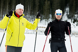 Simon Hocevar and Dejan Kralj of Slovenian Kayak Canoe National Team at Winter training of Cross country and Biathlon, on January 7, 2015 in Rudno polje, Pokljuka, Slovenia.  Photo by Vid Ponikvar / Sportida