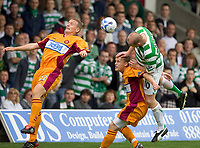 Motherwell v Celtic, Scottish Premier League, Fir Park, Motherwell.  Pic ian Stewart, Saturday 30th July 2005<br /> Hartson beats Hammill and Kinniburgh for 1st goal