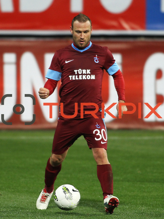 Trabzonspor's Serkan Balci during their Tuttur.com Cup matchday 2 soccer match Trabzonspor between  Werder Bremen at Mardan stadium in AntalyaTurkey on 07 Monday January, 2013. Photo by Aykut AKICI/TURKPIX