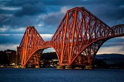 Forth Rail Bridge, photographed today.