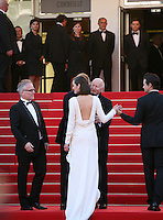 Marion Cotillard and Jeremy Renner on the red steps at The Immigrant film gala screening at the Cannes Film Festival Friday 24th May May 2013