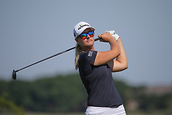 May 6, 2018 - The Colony, TX, U.S. - THE COLONY, TX - MAY 06: Anna Nordqvist (SWE) hits from the 6th tee during the Volunteers of America LPGA Texas Classic on May 6, 2018 at the Old American Golf Club in The Colony, TX. (Photo by George Walker/Icon Sportswire) (Credit Image: © George Walker/Icon SMI via ZUMA Press)