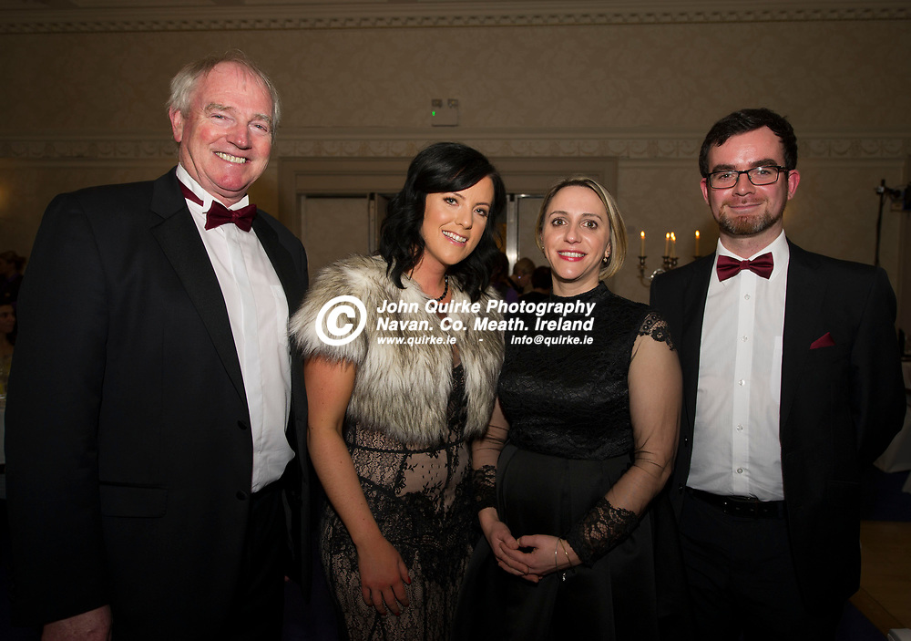 24-11-18. Meath Business and Tourism Awards 2018 at the Newgrange Hotel, Navan.<br /> L to R: Joe English, Ciara O hAodha, Deirdre Healy and Ciaran McDonnell, Meath County Council and Meath Tourism.<br /> Photo: John Quirke / www.quirke.ie<br /> ©John Quirke Photography, Unit 17, Blackcastle Shopping Cte. Navan. Co. Meath. 046-9079044 / 087-2579454.