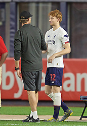 NEW YORK, NEW YORK, USA - Wednesday, July 24, 2019: Liverpool's Sepp van den Berg prepares to come on as a substitute for his debut during a friendly match between Liverpool FC and Sporting Clube de Portugal at the Yankee Stadium on day nine of the club's pre-season tour of America. (Pic by David Rawcliffe/Propaganda)
