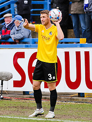 Bristol Rovers' Lee Brown in action - Photo mandatory by-line: Neil Brookman/JMP - Mobile: 07966 386802 - 28/03/2015 - SPORT - Football - Macclesfield - Moss Rose - Macclesfield Town v Bristol Rovers - Vanarama Football Conference