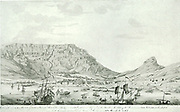 View of Cape Town in 1762, from, the Castle to the Water-Battery, as seen from the South-West.