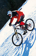 Snow downhill race, Bad Gastein, Austria. 1997