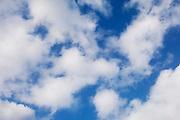 White clouds in a blue sky, UK
