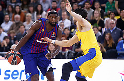 November 1, 2018 - Barcelona, Catalonia, Spain - Chris Singleton during the match between FC Barcelona and Maccabi Tel Aviv, corresponding to the week 5 of the Euroleague, played at the Palau Blaugrana, on 01 November 2018, in Barcelona, Spain. (Credit Image: © Joan Valls/NurPhoto via ZUMA Press)