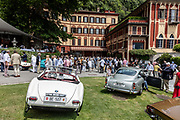 Como, Italy, Concorso d'Eleganza Villa D'Este, from left , BMW 507 and Aston Martin DB5