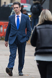London, UK. 16th November, 2018. Steve Baker, Conservative MP for Wycombe and a leading Eurosceptic, appears on College Green in Westminster as uncertainty continues around the survival of Prime Minister Theresa May's Government and the number of letters of no confidence submitted to the 1922 Committee.