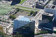 Nederland, Noord-Holland, Amsterdam, 09-04-2014; Zuid-as, nieuw gebouw OVC real estate (in opdracht van Deloitte). Deel van het ACTA gebouw (onder campus VU).<br /> Amsterdam equivalent of 'the City', financial district. <br /> luchtfoto (toeslag op standard tarieven);<br /> aerial photo (additional fee required);<br /> copyright foto/photo Siebe Swart