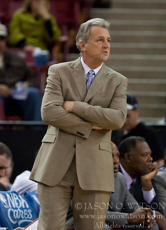 November 29, 2009; Sacramento, CA, USA;  Sacramento Kings head coach Paul Westphal during the third quarter against the New Orleans Hornets at the ARCO Arena.  Sacramento defeated New Orleans 112-96.