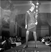 13/11/1967<br /> 11/13/1967<br /> 13 November 1967<br /> Irish Leather Federation, Leather Fashions at the Gresham Hotel, Dublin.<br /> Green leather suit by Julian Vard.