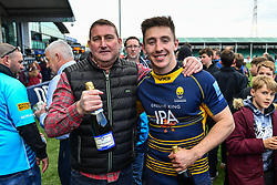 Josh Adams of Worcester Warriors receives another award from supporters - Mandatory by-line: Craig Thomas/JMP - 13/04/2019 - RUGBY - Sixways Stadium - Worcester, England - Worcester Warriors v Sale Sharks - Gallagher Premiership Rugby
