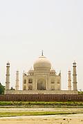 India, Uttar Pradesh, Agra, The view of the Taj Mahal from its rear side.