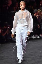 Model Adwoa Aboah walks on the runway during the Fenty X Puma Rihanna Fashion show at New York Fashion Week Spring Summer 2018 held in New York, NY on September 10, 2017. (Photo by Jonas Gustavsson/Sipa USA)