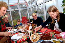 Traditional Christmas lunch Yorkshire UK