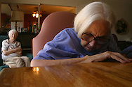 An Alzheimer's patient at a live-in residence for Alzheimer's and dementia related  patients.