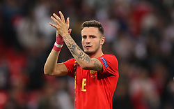 Spain's Saull Niguez applauds the fans after the final whistle