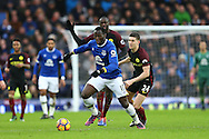 Romelu Lukaku of Everton makes a break. Premier league match, Everton v Manchester City at Goodison Park in Liverpool, Merseyside on Sunday 15th January 2017.<br /> pic by Chris Stading, Andrew Orchard sports photography.