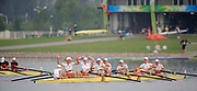 Shunyi, CHINA. GBR M8+,  Women's eights final, Gold medalist USA W8+,  (b)CAFARO Erin, SHOOP Lindsay<br /> GOODALE Anna, LOGAN Elle, CUMMINS Anne, FRANCIA Susan, LIND Caroline, DAVIES Caryn and cox, WHIPPLE Mary.<br /> Bronze medalist ROM W8+ Bow, BURCICA Constanta<br /> SUSANU Viorica, SERBAN Rodica Maria<br /> BARABAS Eniko, MUSAT Simona Dumitrita, PAPUC Ioana Cristina, ANDRUNACHE Georgeta<br /> IGNAT Doina and cox, GEORGESCU Elena<br /> Silver medalist (b), DEKKER Femke, SMULDERS Marlies, KINGMA Nienke, REPELAER van DRIEL Roline, van RUMPT Annemarieke, TANGER Helen<br /> SIEGELAAR Sarah, de HAAN Annemiek and cox,  WORKEL Ester <br />  at the 2008 Olympic Regatta, Shunyi Rowing Course.  17/08/2008 [Mandatory Credit: Peter SPURRIER, Intersport Images
