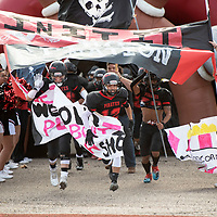 Grants Pirates take the field Saturday afternoon in the  2019 4A NMAA State Football Championship quarterfinal game against Kirtland Central at Grants High School in Grants. Grants beat Kirtland 56-13.