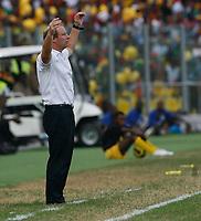 Photo: Steve Bond/Richard Lane Photography.<br />Ghana v Nigeria. Africa Cup of Nations. 03/02/2008. Bertie Vogts despairs