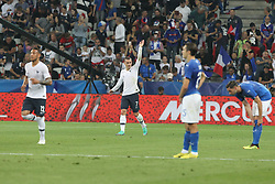 June 1, 2018 - Paris, Ile-de-France, France - Antoine Griezmann  celebrates after scoring during the friendly football match between France and Italy at Allianz Riviera stadium on June 01, 2018 in Nice, France..France won 3-1 over Italy. (Credit Image: © Massimiliano Ferraro/NurPhoto via ZUMA Press)